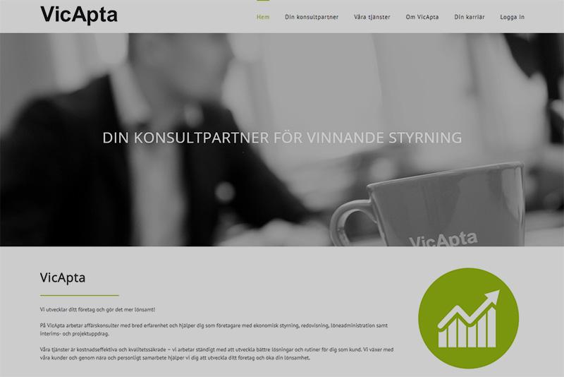 Webbyrå Uppsala Webbproduktion Vicapta