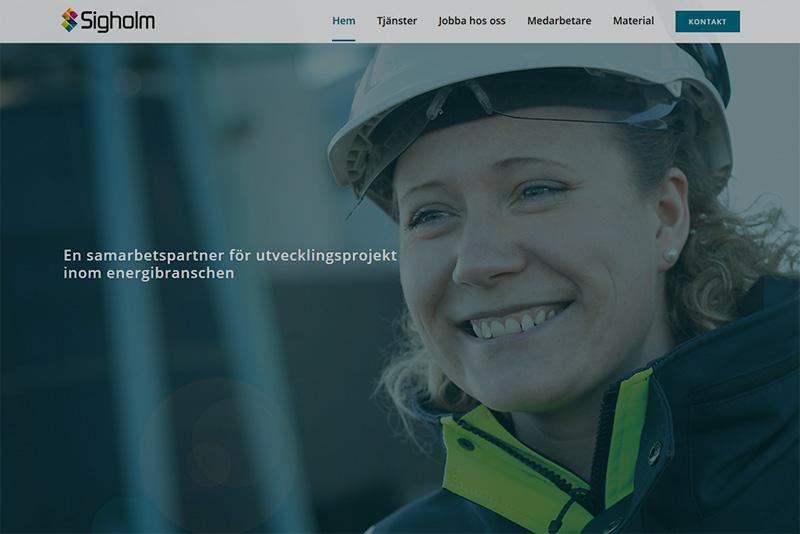 Webbyrå Uppsala Webbproduktion Sigholm