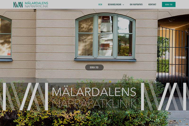 Webbyrå Västerås Webbproduktion Mälardalens Naprapatklinik