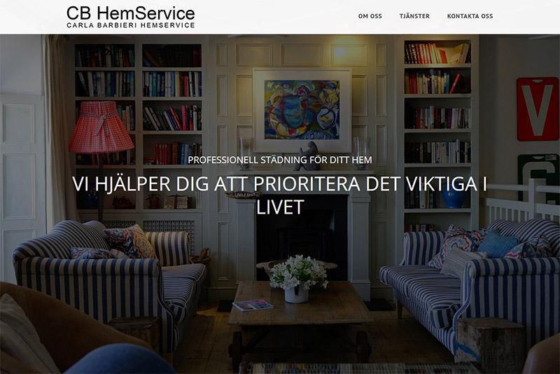 Webbyrå Västerås Webbproduktion CB HemService