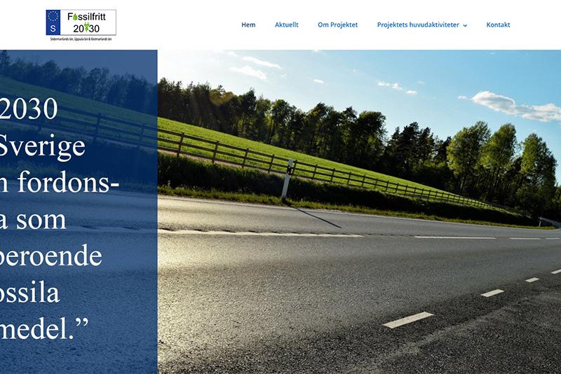 Webbyrå Västerås Webbproduktion Fossilfritt 2030 - Länsstyrelsen