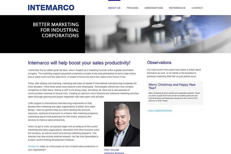 Webbyrå Västerås Webbproduktion Intemarco