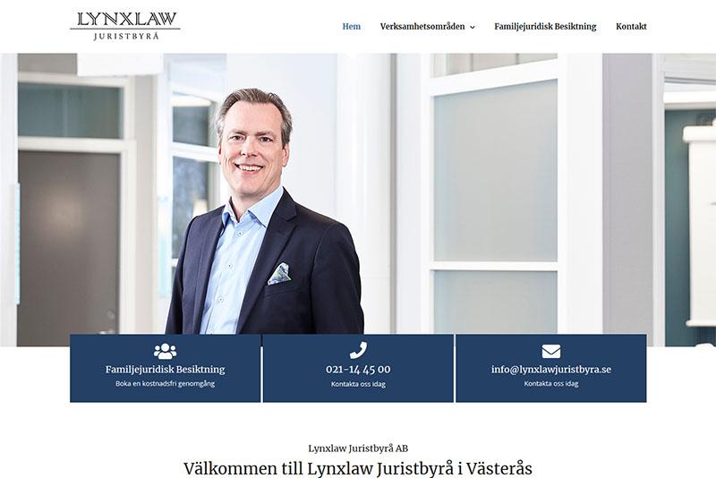 Webbyrå Västerås Webbproduktion Ny Hemsida Lynxlaw Juristbyrå
