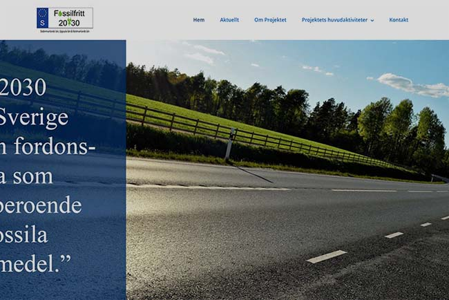 Webbyrå Strängnäs Webbproduktion Fossilfritt 2030 Länsstyrelsen