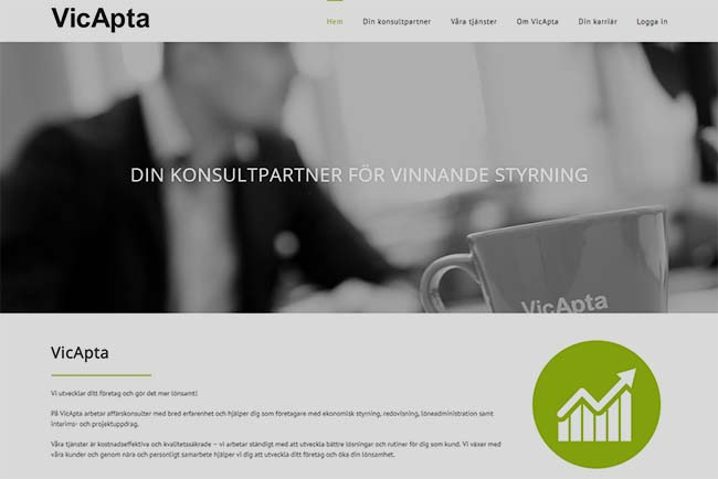 Webbyrå Västerås Webbproduktion Hemsida Vicapta
